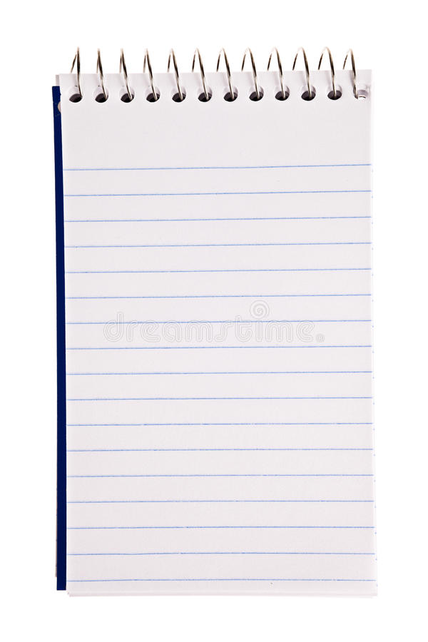 Download Blank note pad stock photo. Image of spiral, isolated - 23206490