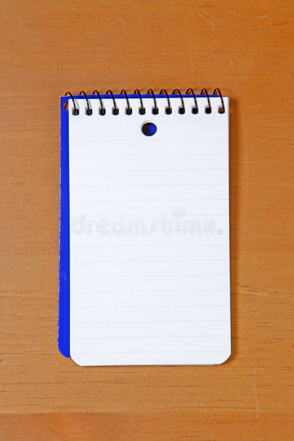 A Blank Note Pad Royalty Free Stock Photos