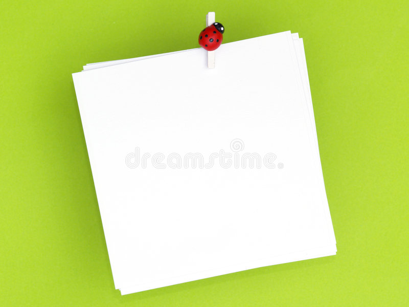Download Blank note pad stock photo. Image of info, ladybug, shadow - 8488814