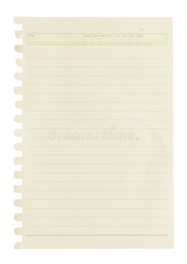 Free Blank Note Paper. Royalty Free Stock Image - 27991346