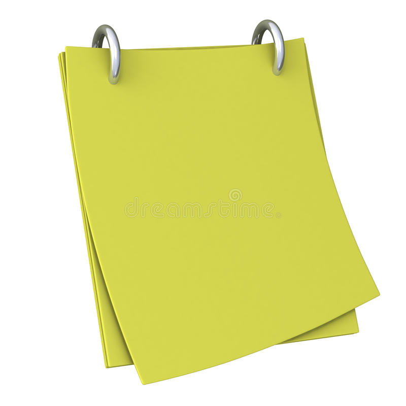 Download Blank note paper 3d stock illustration. Image of border - 21797189