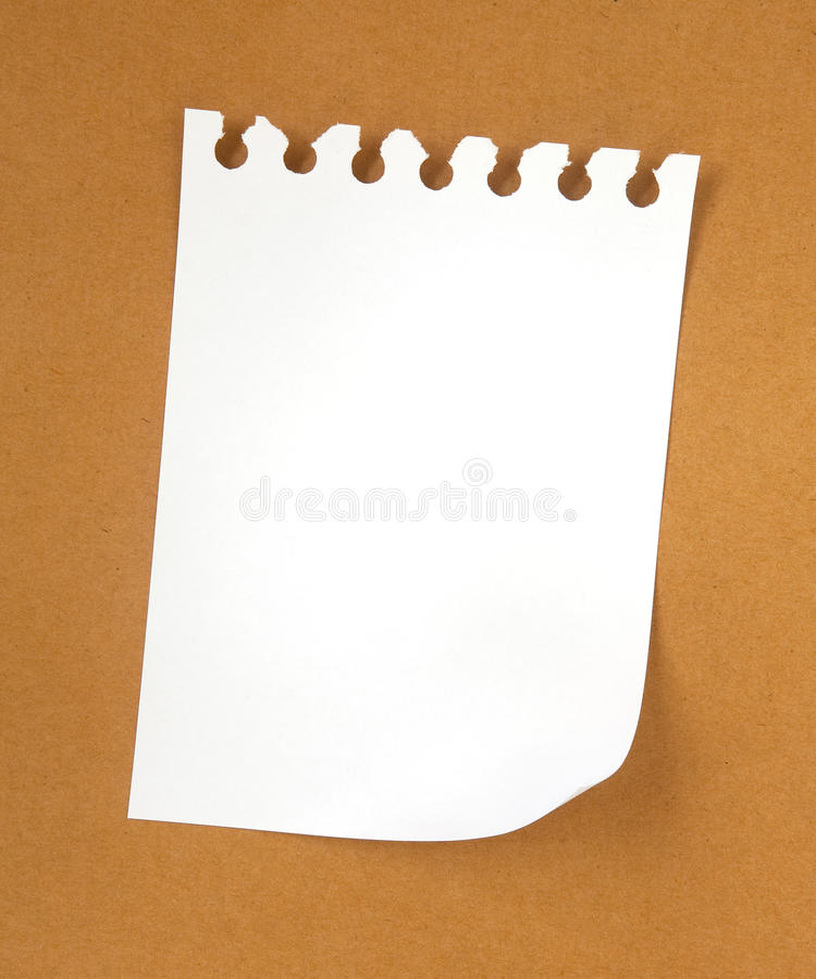 Free Blank Note Paper On Cardboard Royalty Free Stock Photography - 17573887