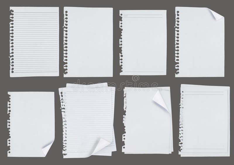 Blank note paper over gray background royalty free stock images