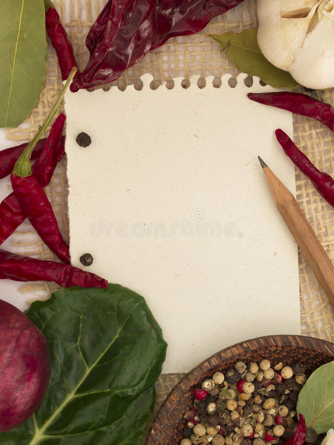 Download Blank note for recipe stock photo. Image of menu, products - 23675272