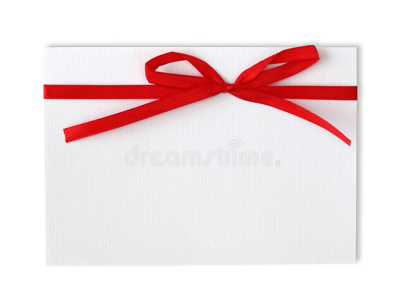 Download Blank note and red ribbon stock photo. Image of message - 12730822