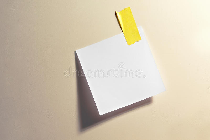 Download Blank note with tape stock image. Image of board, notelet - 29134965