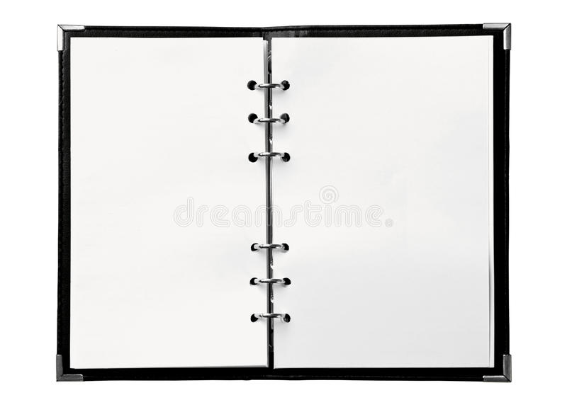 Blank notebook stock photos
