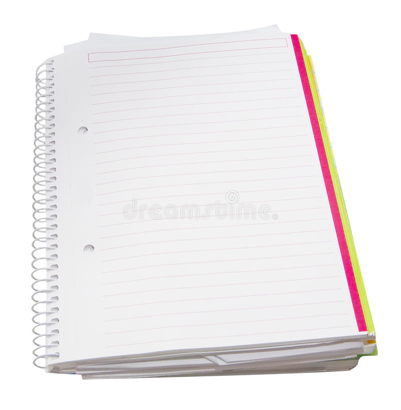 Blank notebook stock image