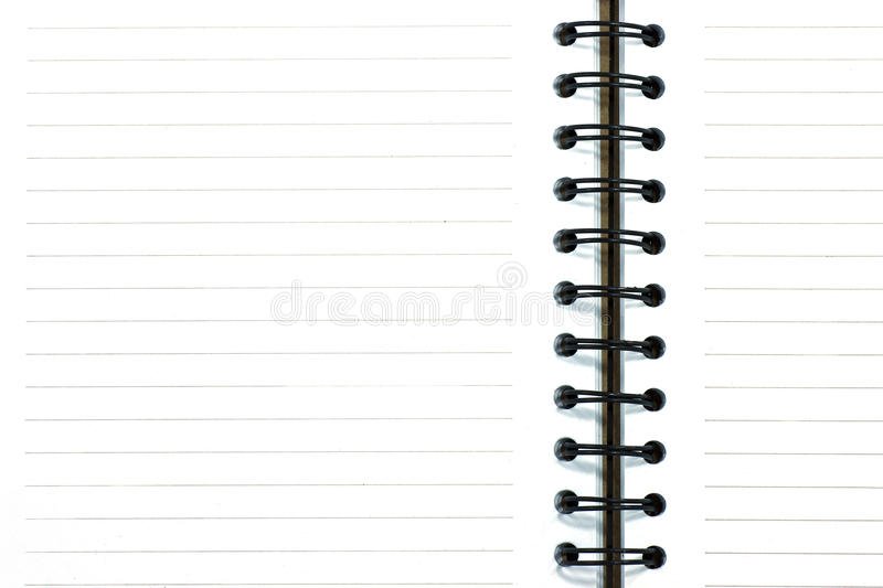 Download Blank of notebook stock image. Image of open, document - 39510705