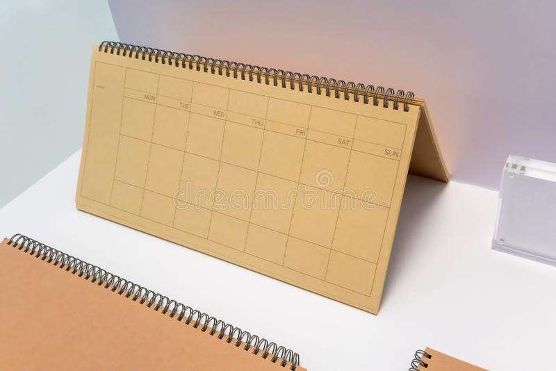 Blank notebook with brown recycled paper cover stock images