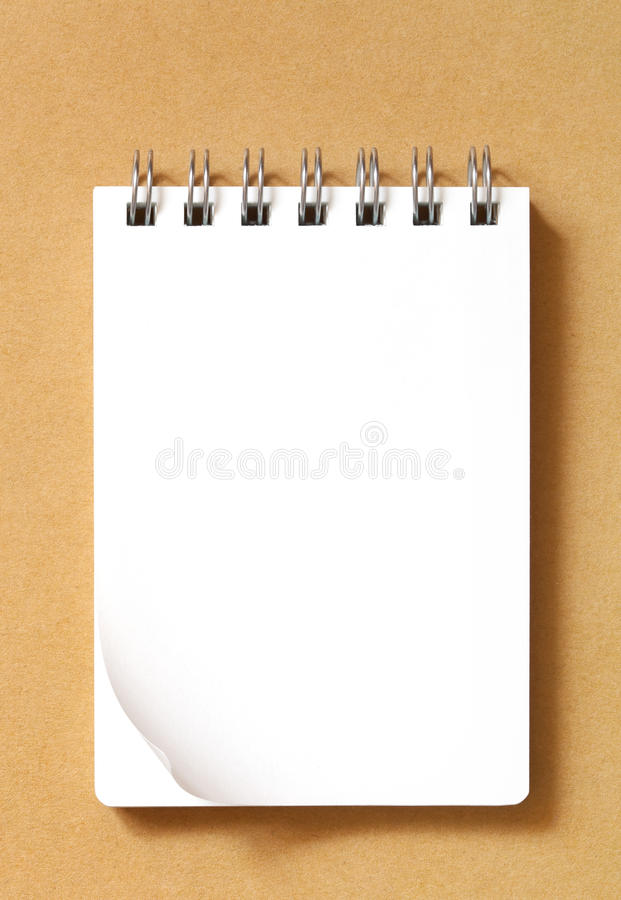 Free Blank Notebook On Cardboard Stock Photography - 17847982