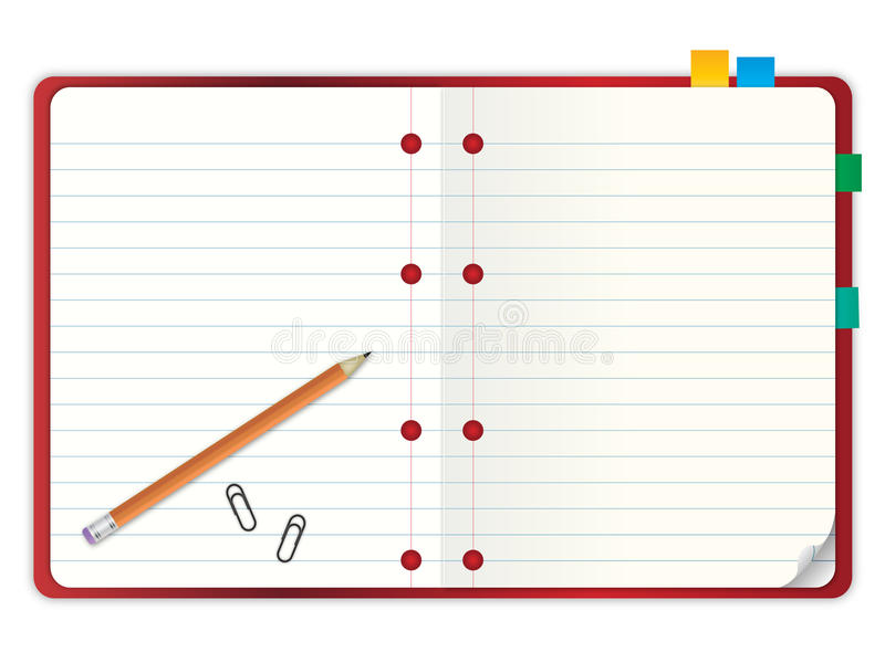 Notebook And Pen Sketch Stock Vector Art More Images Of: Blank Notebook With Pencil Illustration Stock Vector