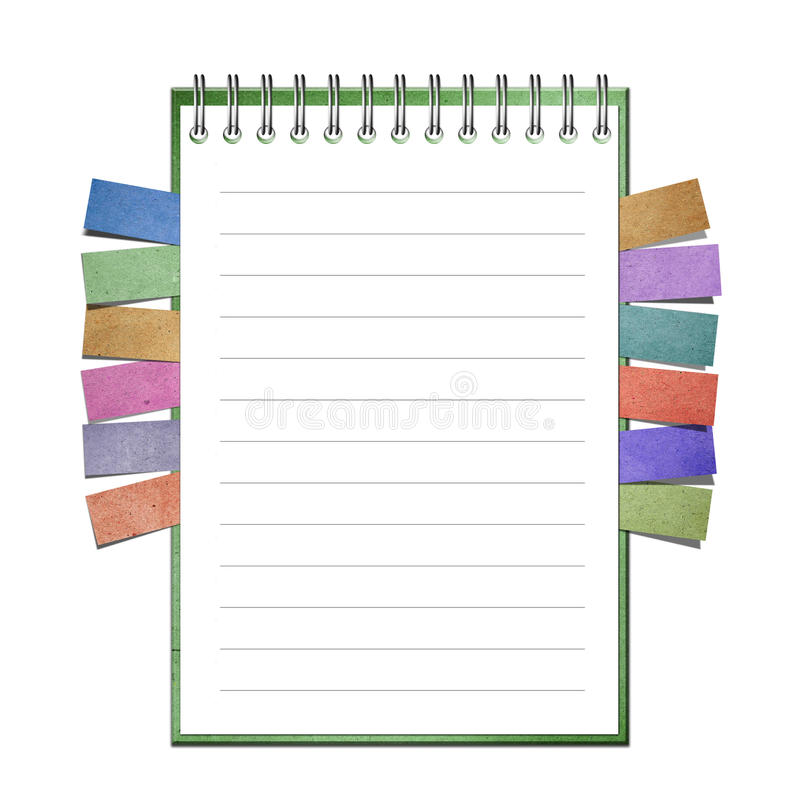 Blank Notebook and reminder note vector illustration