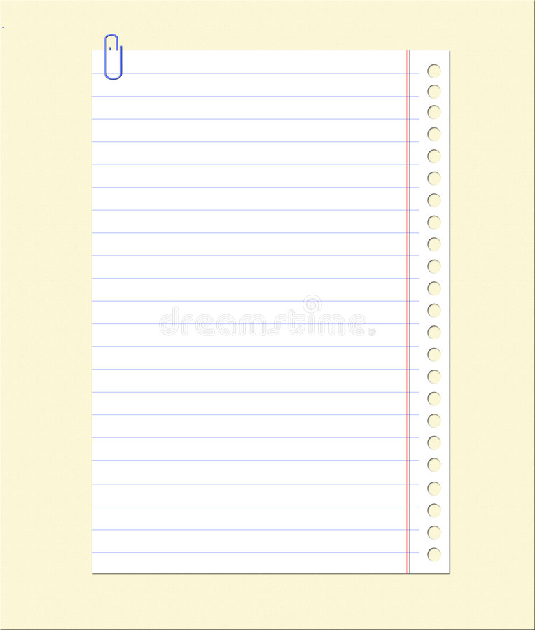 Download Blank Notebook Sheet Stock Images - Image: 8931334