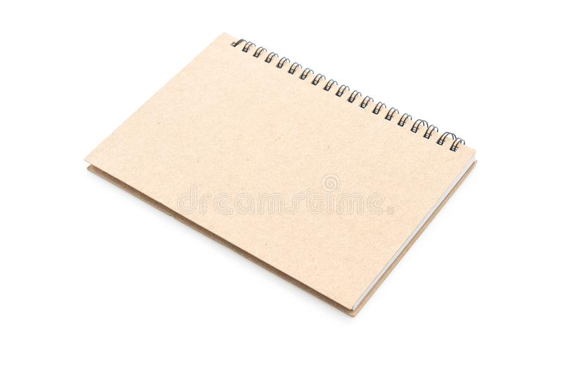 blank notebook on white background royalty free stock image