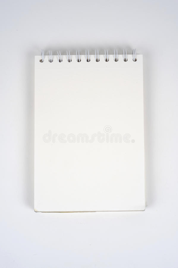 Blank notebook. Blank white notebook for sketches, drawing or writing royalty free stock images