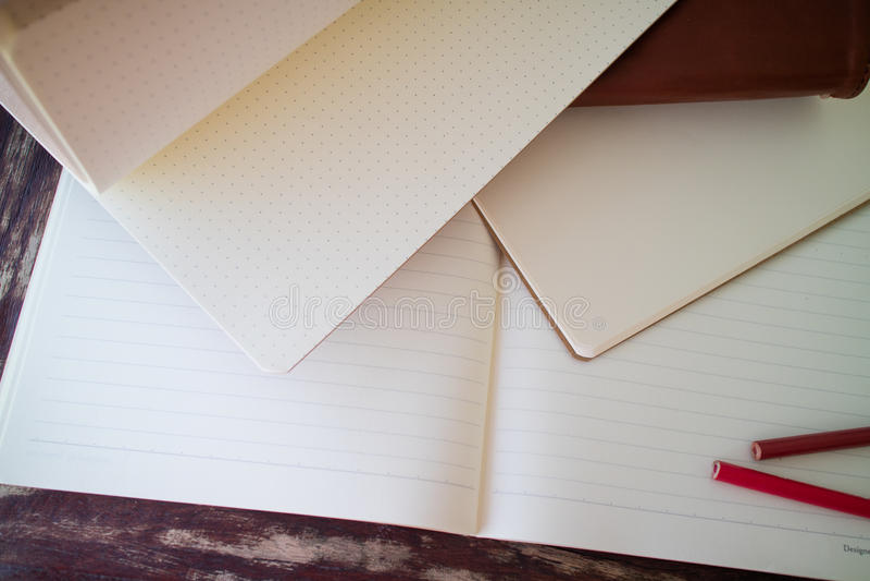 Blank notebooks stock photo