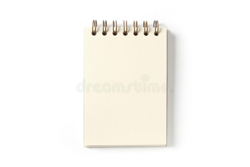 Download Blank Notepad stock photo. Image of isolated, notebook - 18671178