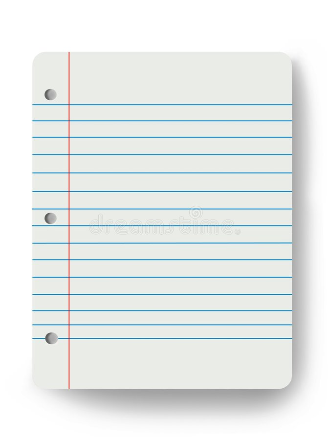 Blank notepad. Blank lined notepad on white background vector illustration