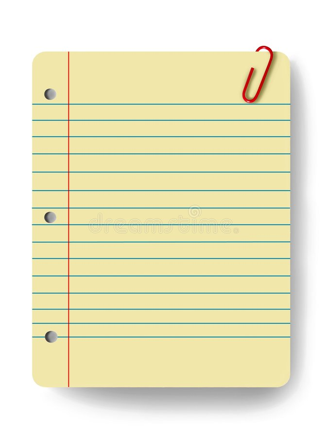 Blank notepad. And a paper clip vector illustration