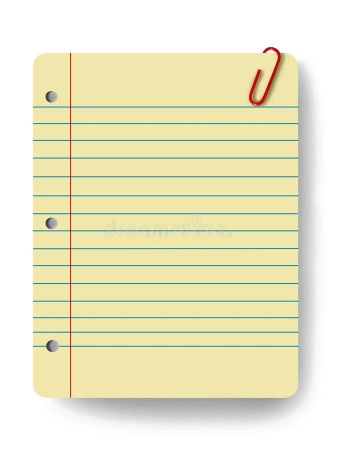Blank notepad vector illustration