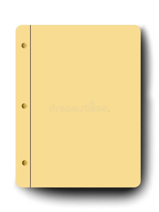 Blank notepad. On white background royalty free illustration