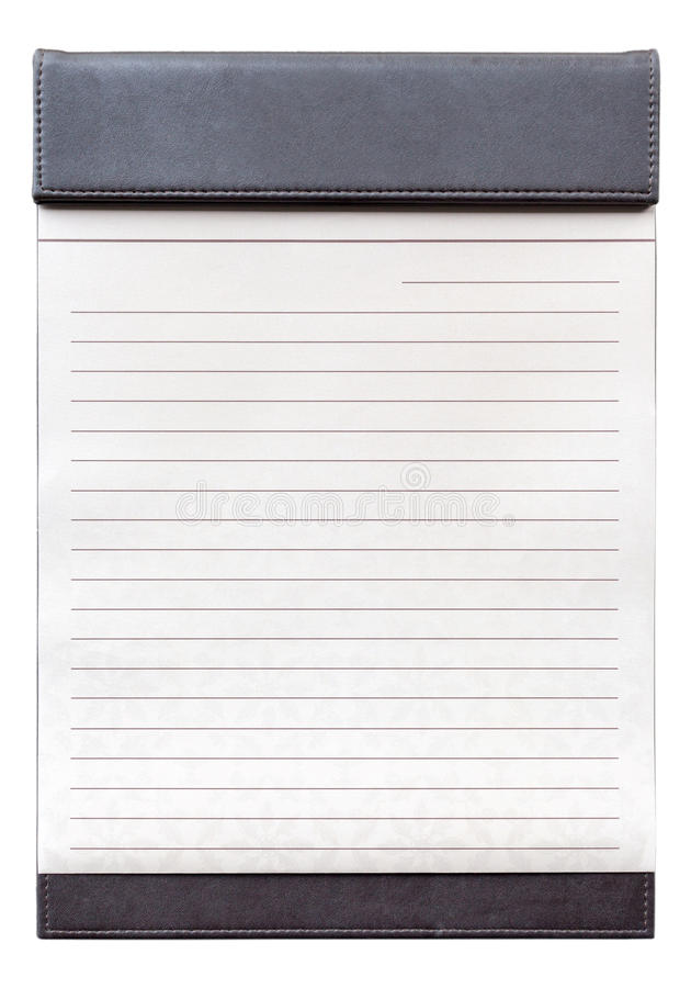 Blank notepad on the brown clipboard for memorandum. Blank notepad on the brown clipboard, for memorandum in meeting room royalty free stock photo