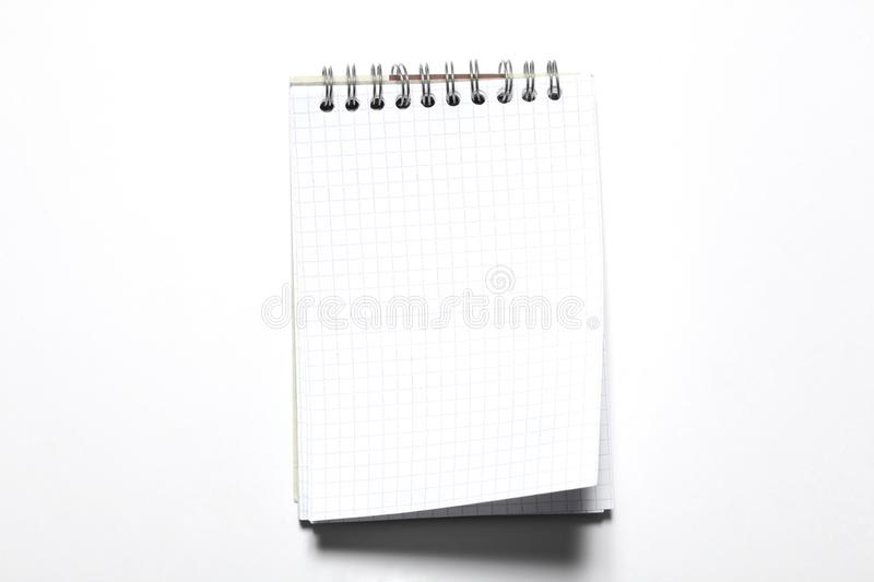 Blank notepad isolated on white background with copy space for your text royalty free stock photos