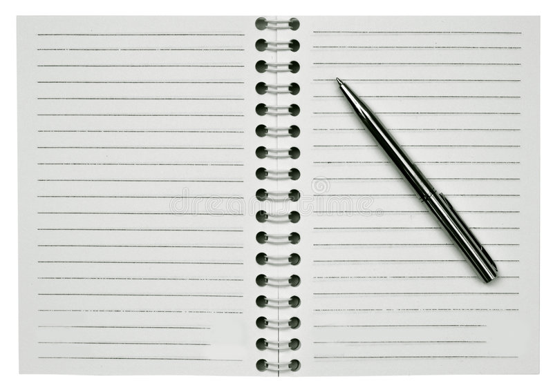 Download Blank notepad and one pen stock photo. Image of binder - 5440502