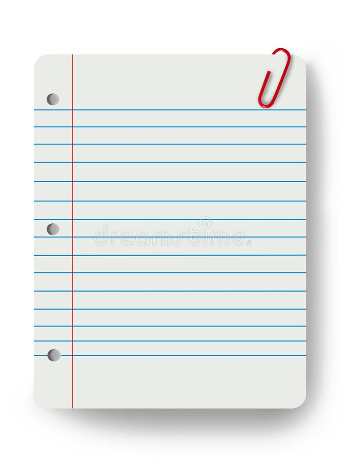 Blank notepad and a paper clip. A blank notepad and a paper clip vector illustration