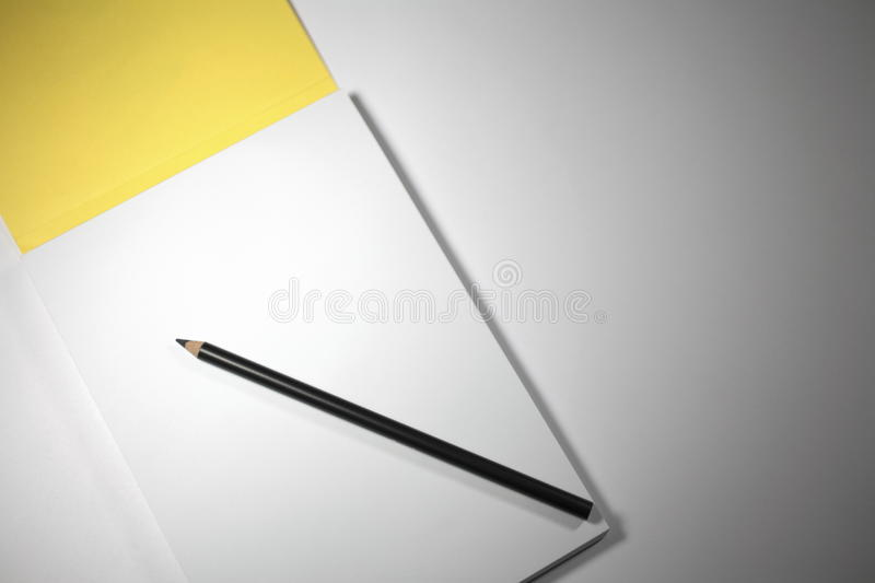 Blank Notepad With Pencil Stock Image