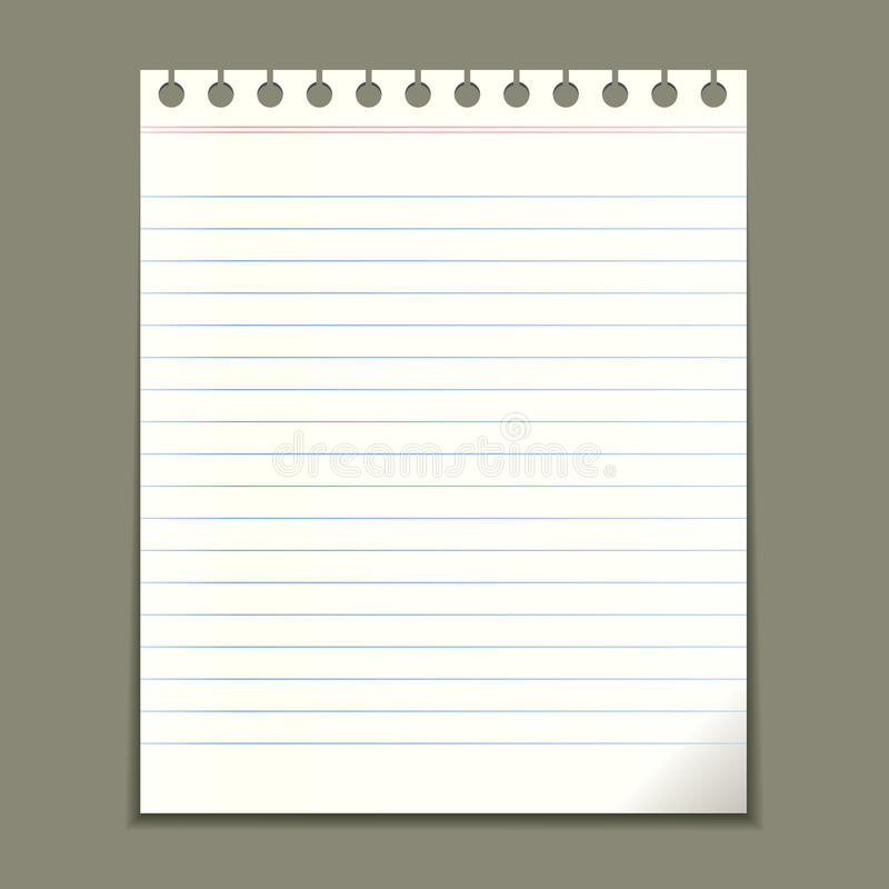Download Blank notepad sheet stock vector. Illustration of message - 26119840