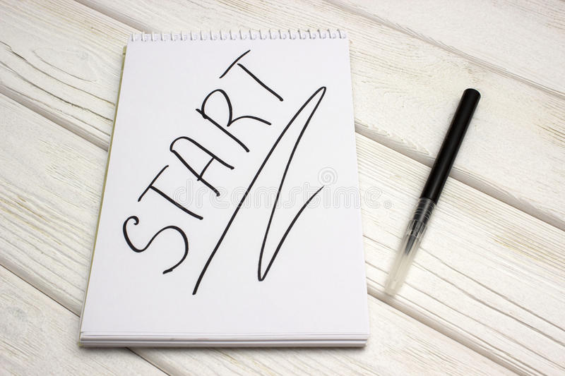 Blank notepad for sketching stock photography