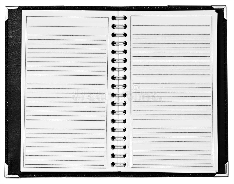 Blank notepad with spiral at middle royalty free stock photo