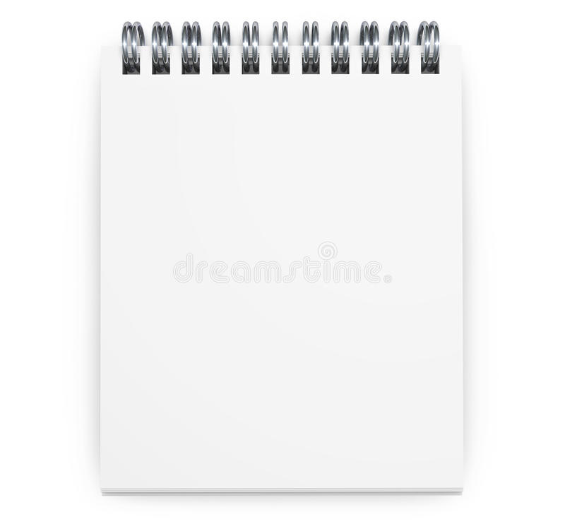 Blank Notepad Royalty Free Stock Images
