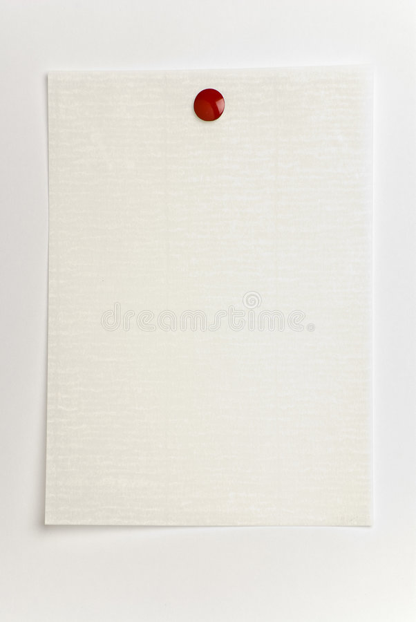 Free Blank Notepaper On White. Royalty Free Stock Photos - 7874438