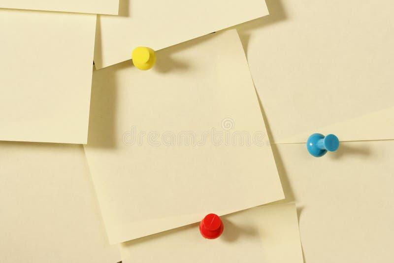 Download Blank notes stock photo. Image of push, notify, lots, nail - 2400756