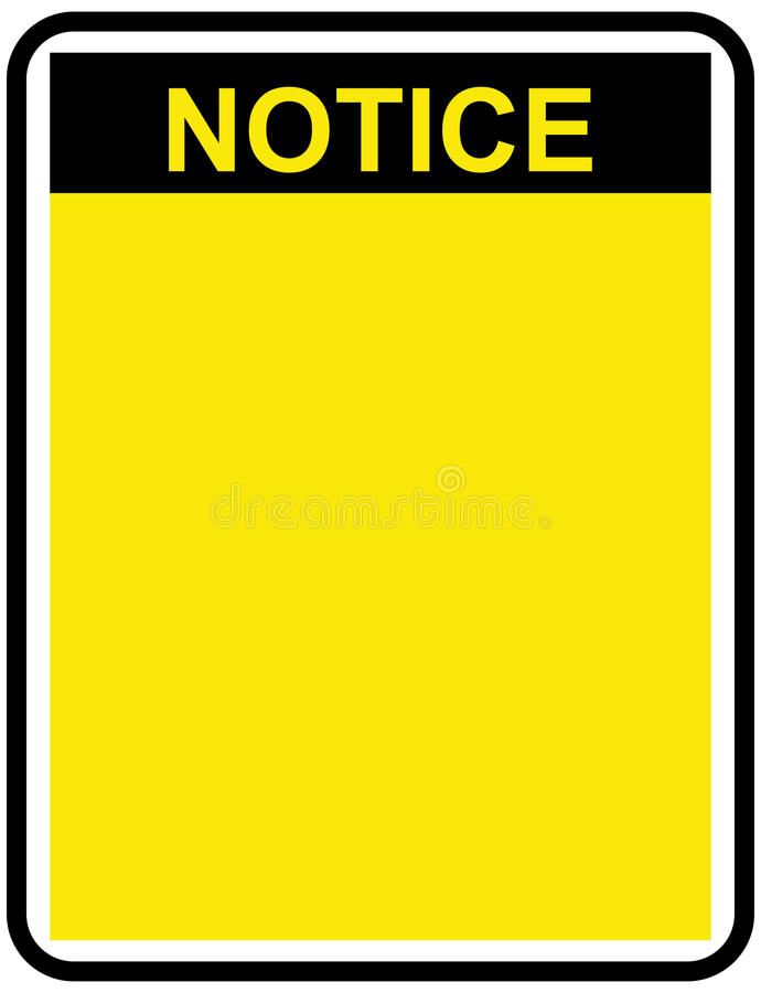 Free Blank Notice Stock Photography - 95288222