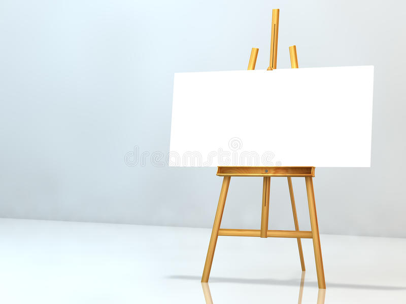 Download Blank notice on easel stock illustration. Illustration of wooden - 11933458