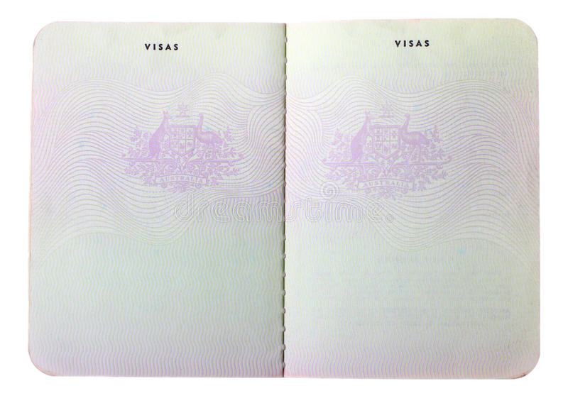 Blank Old Australian Passport Pages Stock Image - Image of ...