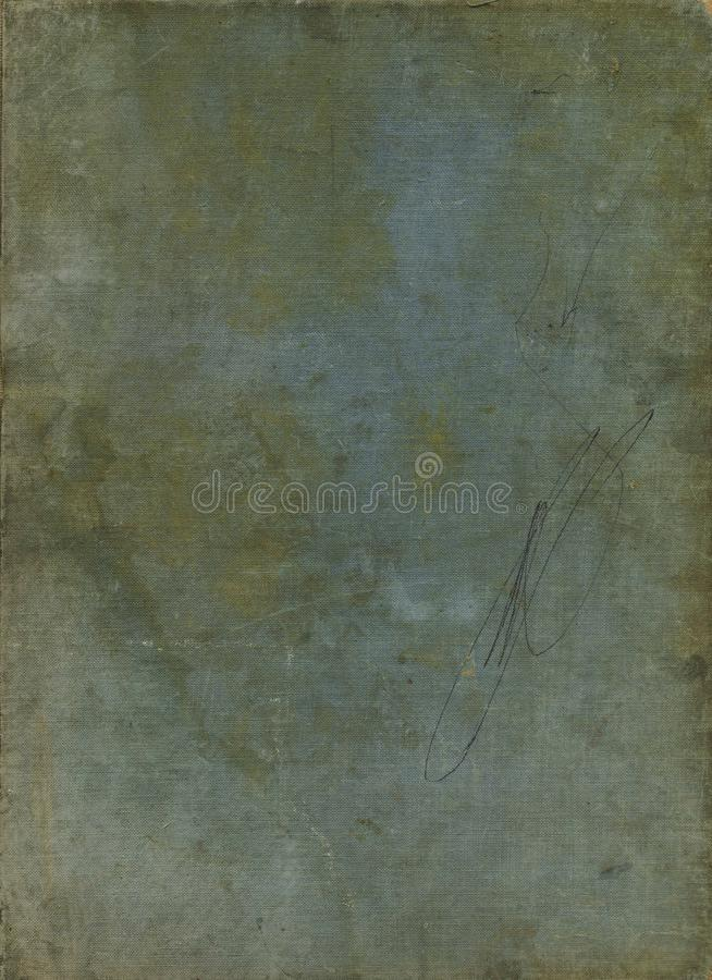 Blank old book cover canvas background. Vintage texture weathered fabric background. royalty free stock images