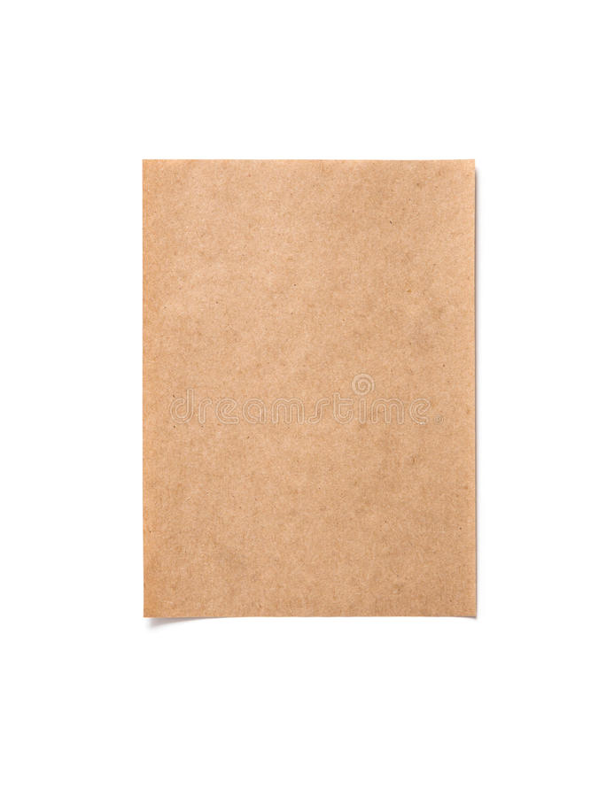 Blank of old brown paper royalty free stock image
