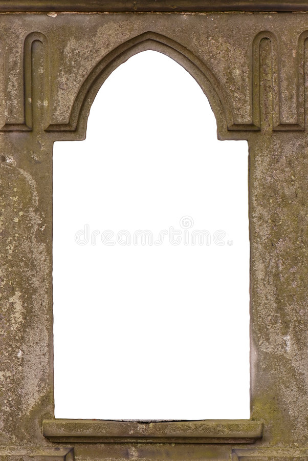 Blank old castle window royalty free stock images