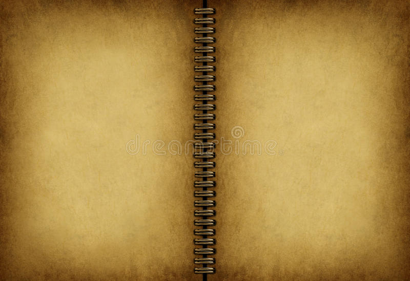 Download Blank Old Note book stock illustration. Image of metal - 25510786