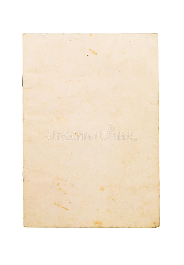 Blank old note book cover stock photos
