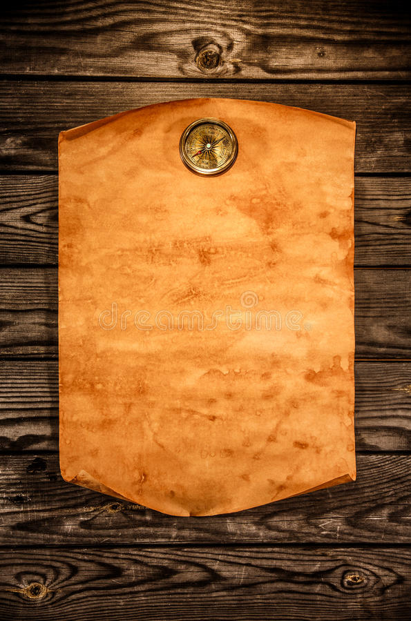 Download Blank Old Paper Against The Background Of An Aged Wood Stock Image - Image: 30937843