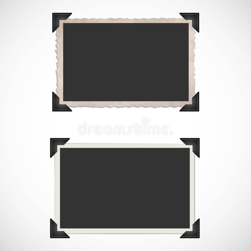 Blank old photo frames and corners. Vector Illustration EPS 10 format vector illustration