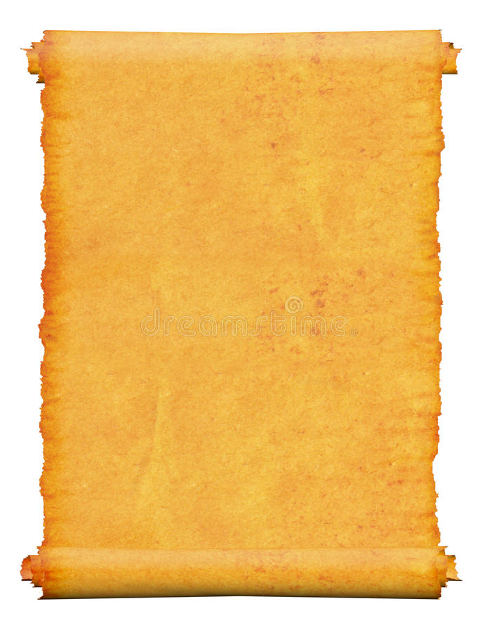 Download Blank. An Old Roll Of Papyrus. Stock Illustration - Image: 14850437
