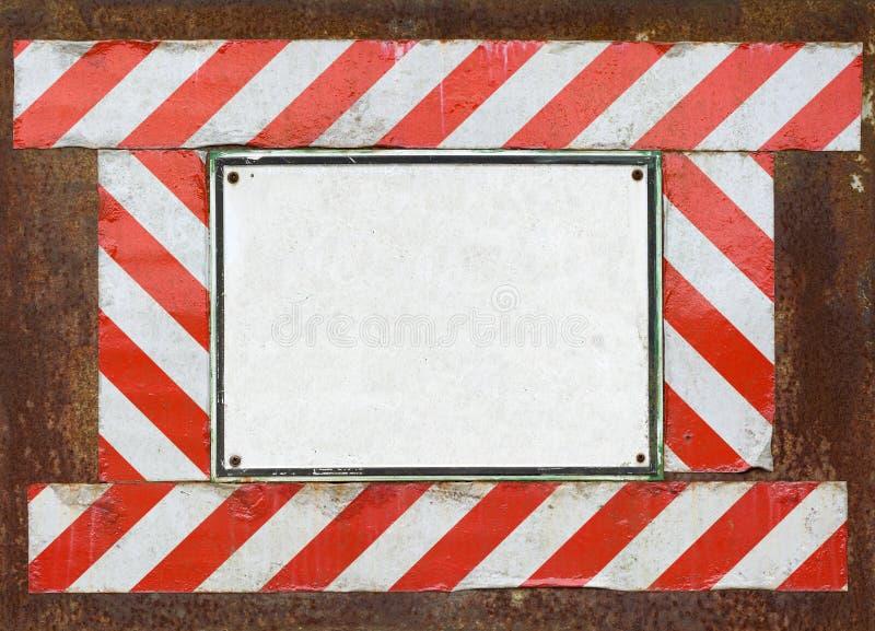 Blank old warning sign royalty free stock image