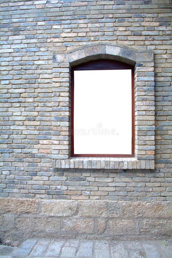 Blank Old Window stock photo